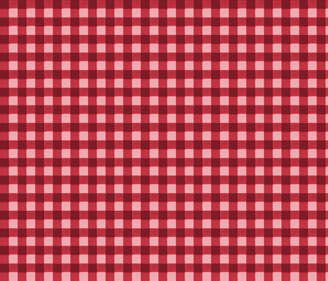 brick red pink gingham fabric by mojiarts on Spoonflower - custom fabric