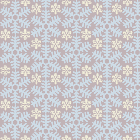 beneath a blanket of snow...(ice & snow) fabric by wednesdaysgirl on Spoonflower - custom fabric