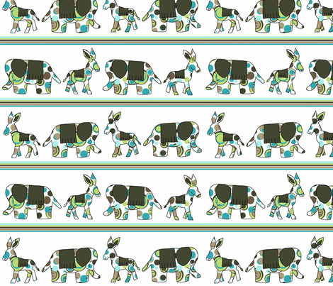 Animal Trails fabric by designedtoat on Spoonflower - custom fabric