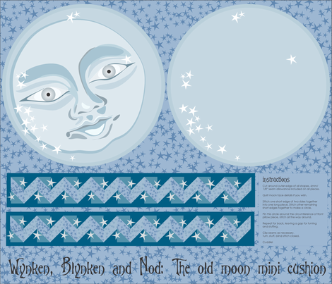 The old moon mini-cushion fabric by bippidiiboppidii on Spoonflower - custom fabric