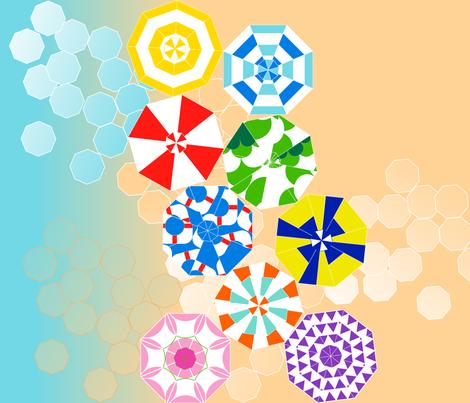 beach umbrellas fabric by veerapfaffli on Spoonflower - custom fabric