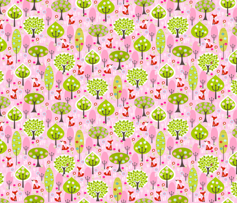 foxespink fabric by natitys on Spoonflower - custom fabric