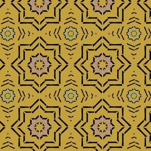 Moroccan Block Print (Mustard)