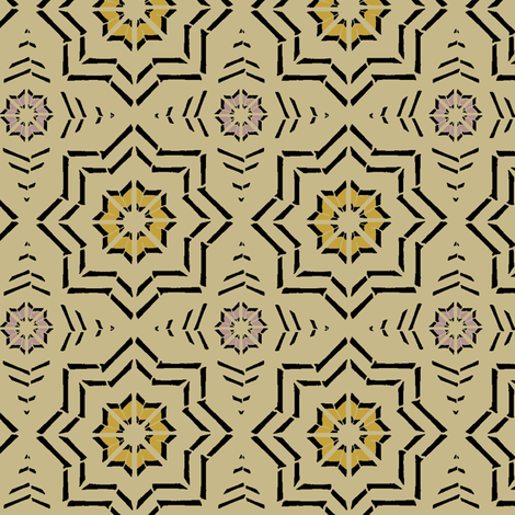 Moroccan Block Print (Camel) fabric by david_kent_collections on Spoonflower - custom fabric