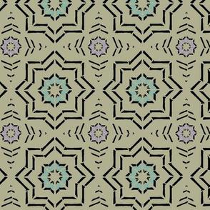 Morocca Block Print (Moss)