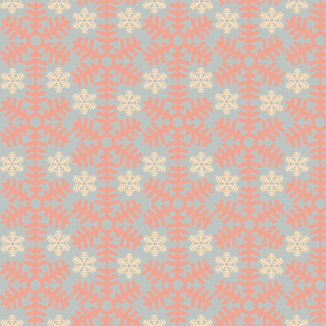 beneath a blanket of snow...(marshmallow) fabric by wednesdaysgirl on Spoonflower - custom fabric
