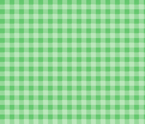 green gingham fabric by mojiarts on Spoonflower - custom fabric