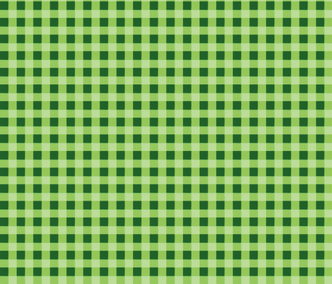 green gingham 3 fabric by mojiarts on Spoonflower - custom fabric
