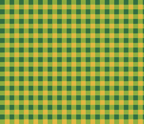 olive green mustard gingham