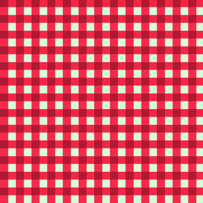 xmas red gingham