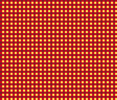 red gingham fabric by mojiarts on Spoonflower - custom fabric