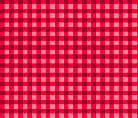 red gingham 2 fabric by mojiarts on Spoonflower - custom fabric