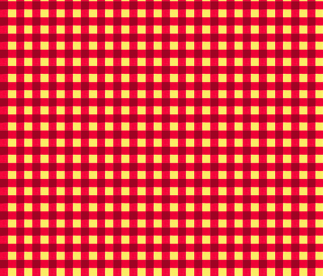 red gingham 3 fabric by mojiarts on Spoonflower - custom fabric