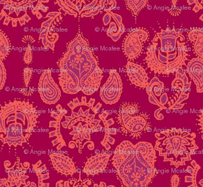Indian Henna in purple & orange