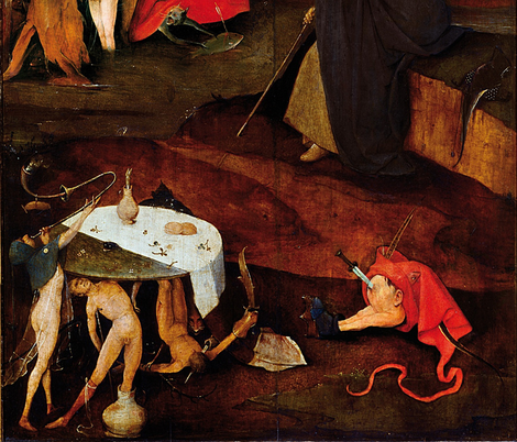 The Temptation of St Anthony by Hieronymus Bosch - Right Panel