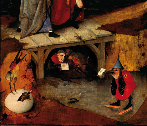 The Temptation of St Anthony by Hieronymus Bosch - Left Panel