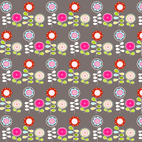 Foxy Flowers fabric by natitys on Spoonflower - custom fabric