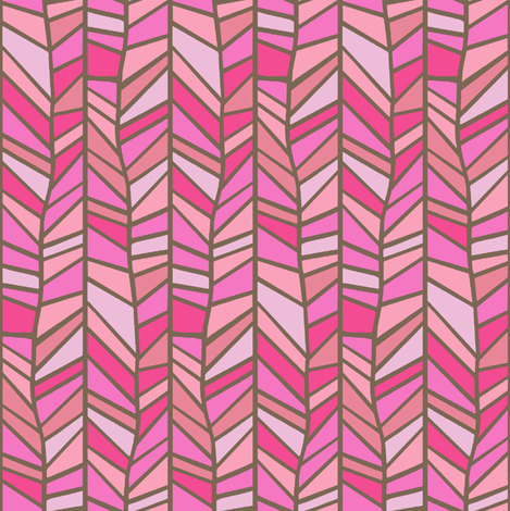 I heart pink  fabric by keweenawchris on Spoonflower - custom fabric