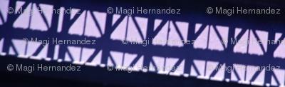 Industrial Shadows in blue