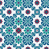 daisy tile too:red, green, and blue