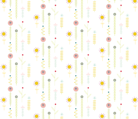 Garden  fabric by ruby_in_the_dust on Spoonflower - custom fabric