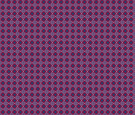 daisy tile too: dark red square fabric by cindilu on Spoonflower - custom fabric