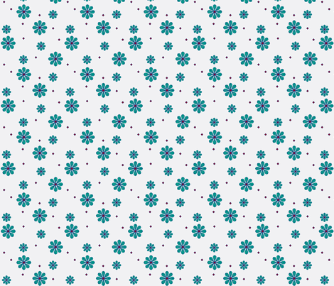 daisy tile too: scattered daisy color change fabric by cindilu on Spoonflower - custom fabric