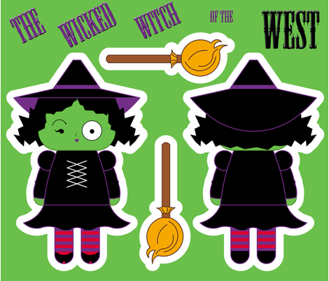 The Wicked Witch Of The West fabric by tscho on Spoonflower - custom fabric