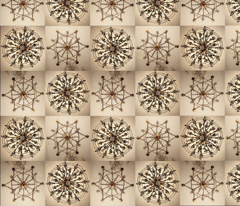 crystal chandelier fabric by flying_pigs on Spoonflower - custom fabric