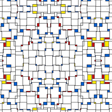 Primary Pop Grid fabric by whimzwhirled on Spoonflower - custom fabric