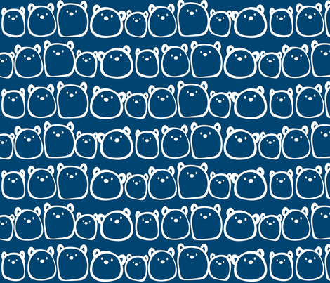 Gum Bears in Blue :) fabric by theoberry on Spoonflower - custom fabric