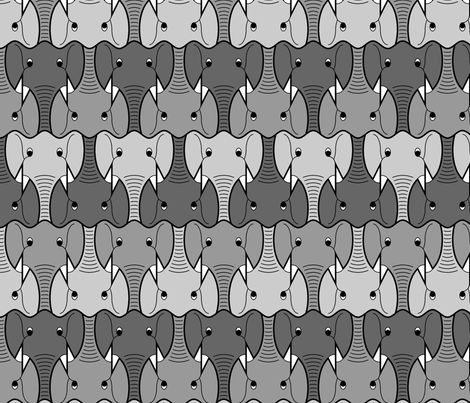 elephant head 3 fabric by sef on Spoonflower - custom fabric