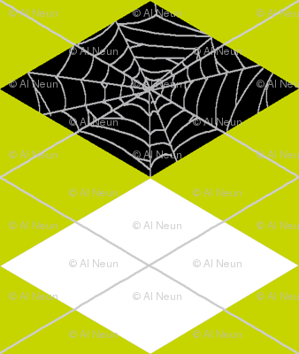 Spiderweb Argyle - Green