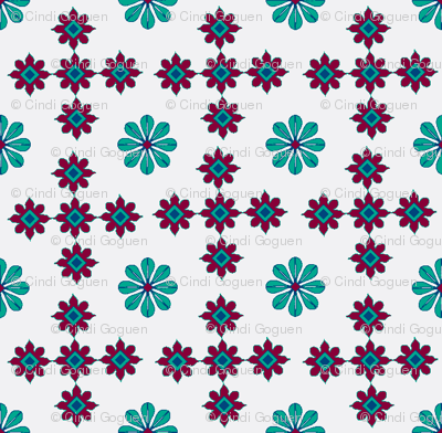 daisy tile too: daisy in the middle