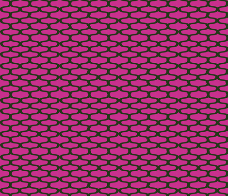 Moroccan_Olive_Fuschia_D2 fabric by jensmi on Spoonflower - custom fabric