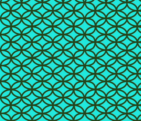 Moroccan_Teal_Olive fabric by jensmi on Spoonflower - custom fabric