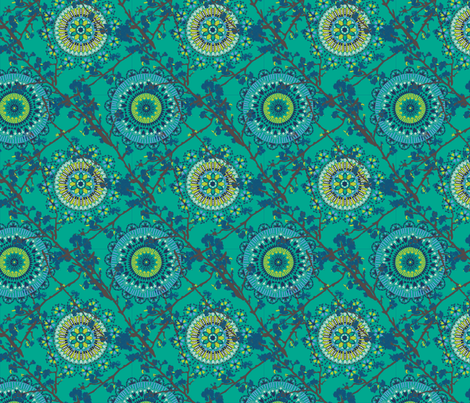 Moroccan-Chinese-Page-Blue-ch fabric by angie_mac on Spoonflower - custom fabric