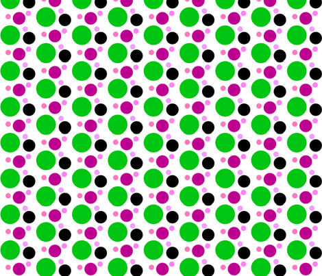 green dot fabric by zippyartist on Spoonflower - custom fabric