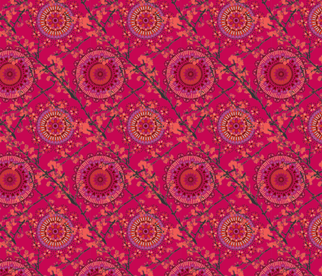 Moroccan-Chinese-Page-Pink-ch-ch fabric by angie_mac on Spoonflower - custom fabric