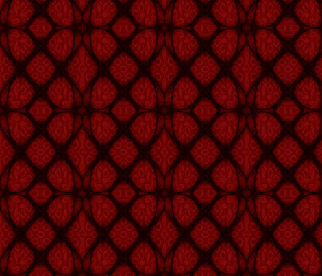 Red and Black Celtic Knot Fabric with Stained Glass Background fabric by onestitchdesigns on Spoonflower - custom fabric