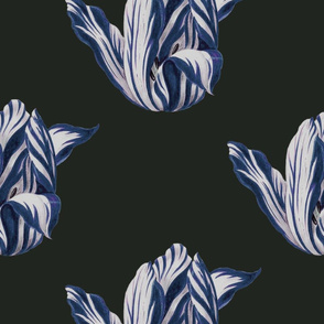 midnight Tulips in navy