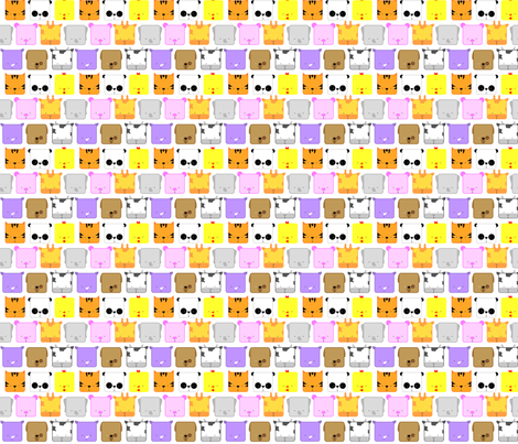 rapport_animals_spoonflower fabric by sewandsing on Spoonflower - custom fabric
