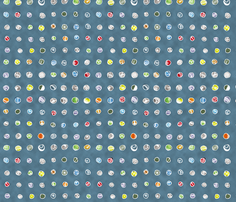 Imaginary Agates: Cool Blue Sand fabric by penina on Spoonflower - custom fabric
