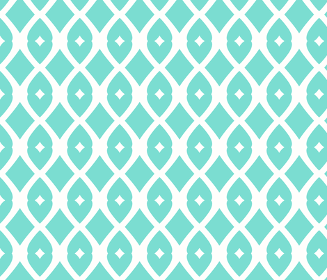 Chain Link 22 (Tropical Sea) fabric by pattyryboltdesigns on Spoonflower - custom fabric