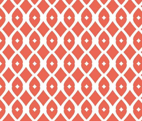 Chain Link 22 (papaya) fabric by pattyryboltdesigns on Spoonflower - custom fabric