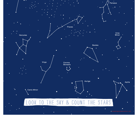 Star Map Bandana fabric by patriciamassie on Spoonflower - custom fabric