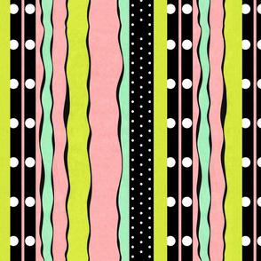 Rosebud Joy Color Stripes