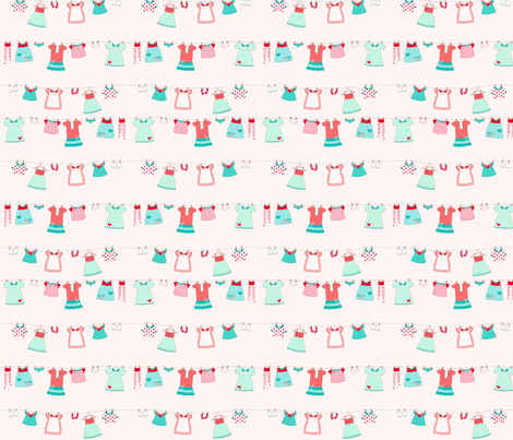 Cute_dress pink fabric by cyntia_abrigo on Spoonflower - custom fabric