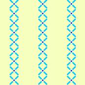 Cross Dot Stripe   -double blue on yellow