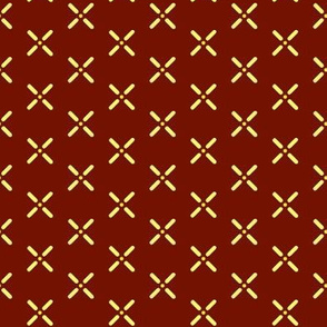 Cross_Dots___-yellow_on_rust